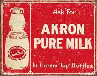 Tin Sign - Sealtest - Akron Pure Milk (Weathered)