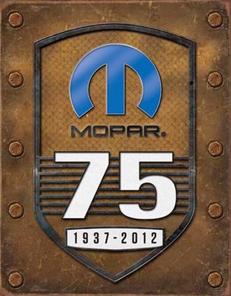 Tin Sign - Mopar - 75th Anniversary (Weathered)