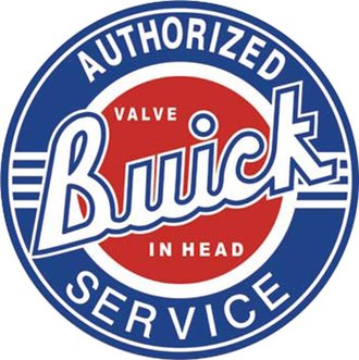 Tin Sign - Buick Service (Round)
