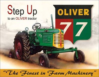 Tin Sign - Oliver 77 - Step Up