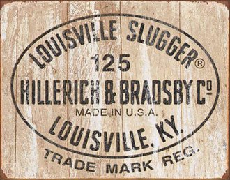 Tin Sign - Louisville Slugger - 125 Logo (Weathered)