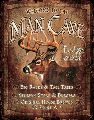Tin Sign - JQ - Man Cave Lodge