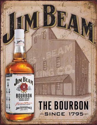 Tin Sign - Jim Beam - Still House (Weathered)