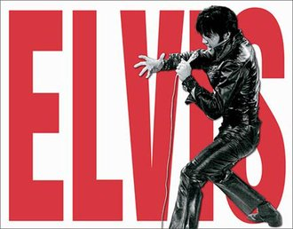 Tin Sign - Elvis Leather