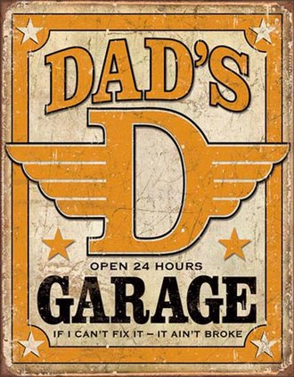 Tin Sign - Dad's Garage (Weathered)