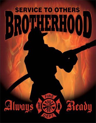 Tin Sign - Firemen - Brotherhood