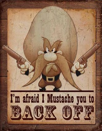 Tin Sign - Yosemite Sam (Weathered)