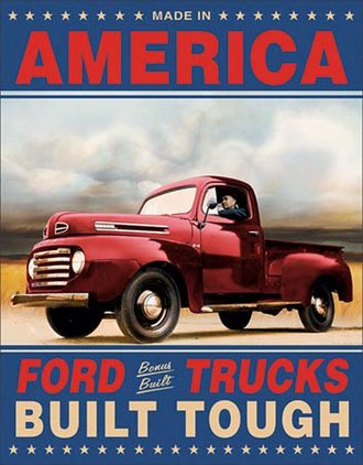 Tin Sign - Ford Trucks Built Tough
