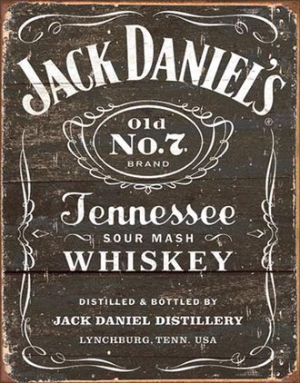 Tin Sign - Jack Daniel's (Weathered)