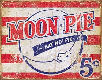 Tin Sign - Moon Pie - American (Weathered)