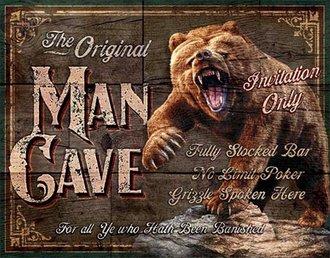 Tin Sign - Man Cave - The Original