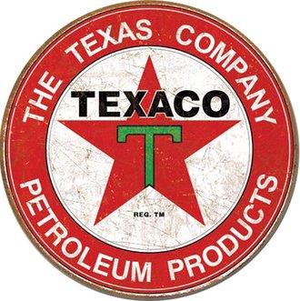 Tin Sign - Texaco (Weathered) (Round)