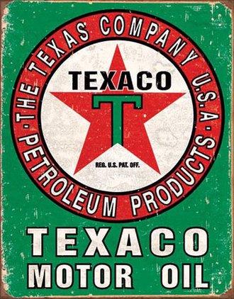 Tin Sign - Texaco Oil (Weathered)