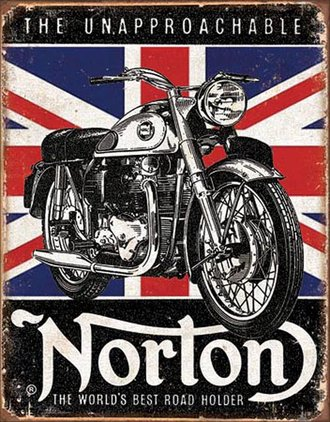Tin Sign - Norton Motorcycles - Best Road Holder (Weathered)