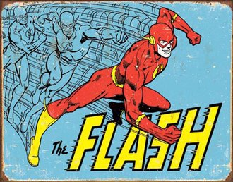 Tin Sign - The Flash - Retro (Weathered)