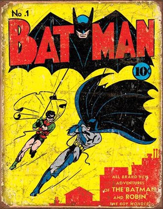 Tin Sign - Batman No1 Cover (Weathered)