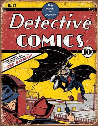 Tin Sign - Detective Comics No27 - Batman (Weathered)