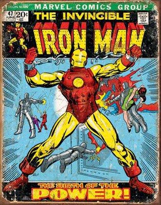 Tin Sign - Iron Man Comic Cover (Weathered)