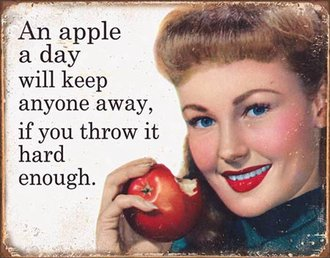 Tin Sign - Ephemera - Apple a Day