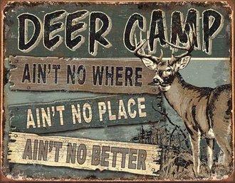 Tin Sign - Deer Camp