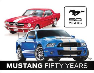 Tin Sign - Ford Mustang - 50 Years