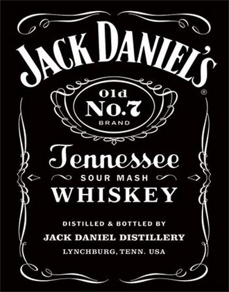 Tin Sign - Jack Daniel's (Black Logo)