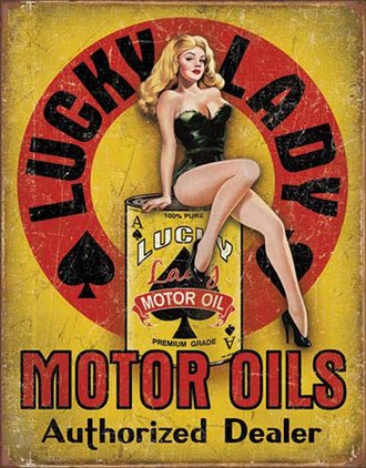 Tin Sign - Lucky Lady Motor Oils