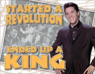 Tin Sign - Elvis - Ended Up a King