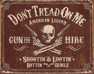 Tin Sign - DTOM - Gun for Hire