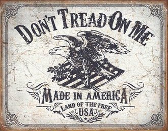 Tin Sign - DTOM - Land of the Free