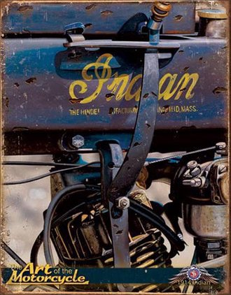 Tin Sign - Indian Motorcycles - 1914 Jacobs