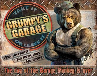 Tin Sign - Grumpy's Garage