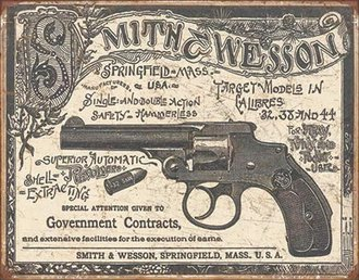 Tin Sign - Smith & Wesson - 1892 Government Contracts