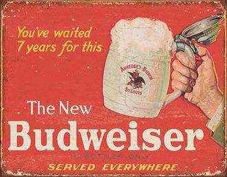 Tin Sign - Budweiser - The New Budweiser