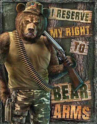 Tin Sign - I Reserve My Right to Bear Arms