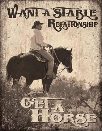 Tin Sign - Want a Stable Relationship...Get a Horse