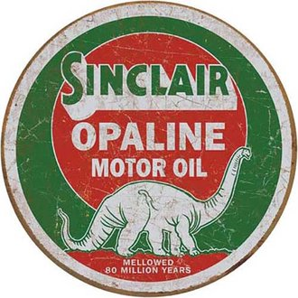 Tin Sign - Sinclair Opaline Motor Oil (Round)