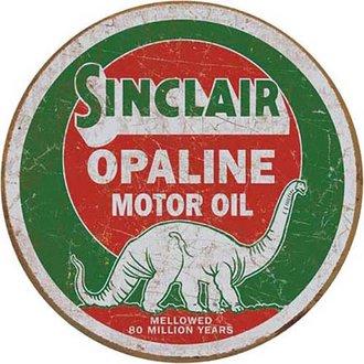 Tin Sign - Sinclair Opaline (Round)