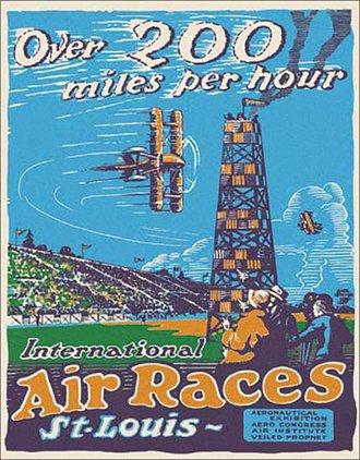Tin Sign - St. Louis Air Races