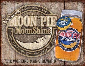 Tin Sign - Moon Pie Moonshine