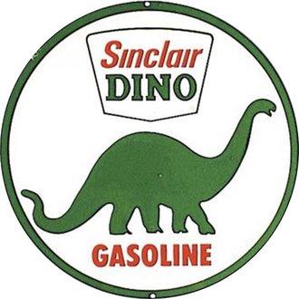 Tin Sign - Sinclair Dino Gasoline (Round)