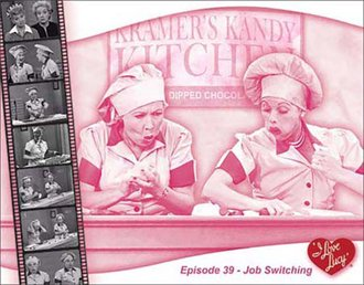 Tin Sign - Lucy - Candy Factory - Job Switching