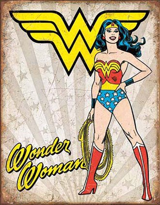 Tin Sign - Wonder Woman - Heroic