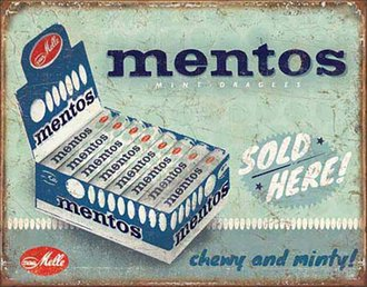 Tin Sign - Mentos - Sold Here