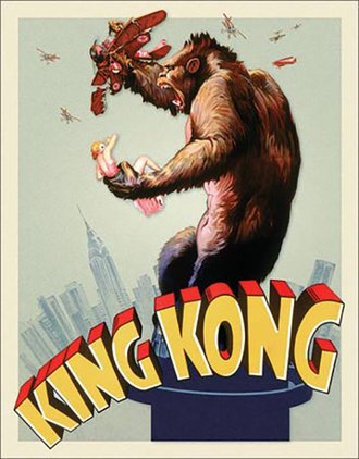 Tin Sign - King Kong - Original Movie Poster