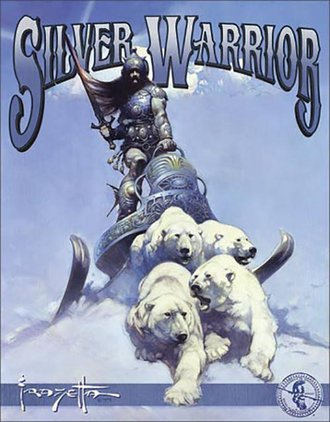 Tin Sign - Frazetta - Silver Warrior