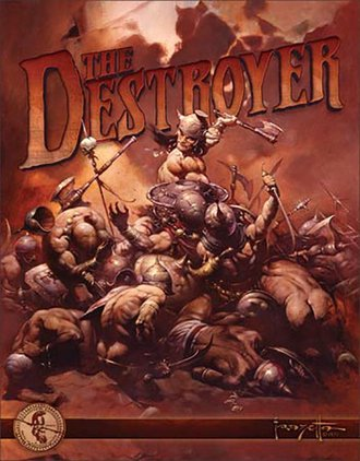 Tin Sign - Frazetta - The Destroyer