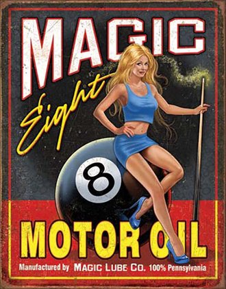 Tin Sign - Magic Eight Motor Oil
