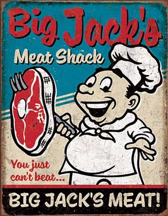 Tin Sign - Big Jack's Meat Shack