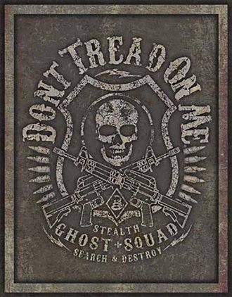 Tin Sign - DTOM - Stealth Ghost Squad
